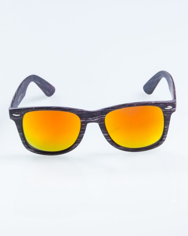 OKULARY CLASSIC WOODY DARK 1 RED MIRROR 886