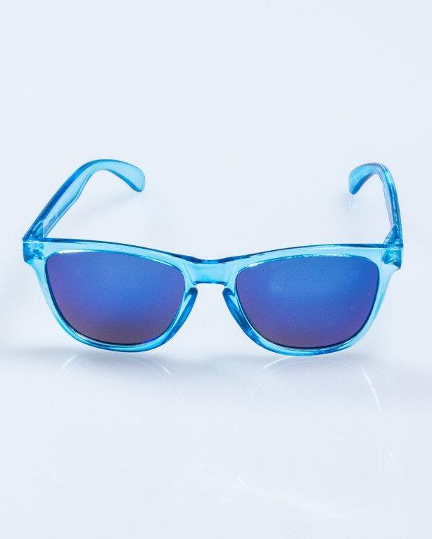 OKULARY CRYSTAL CLEAR BLUE BLUE MIRROR 590