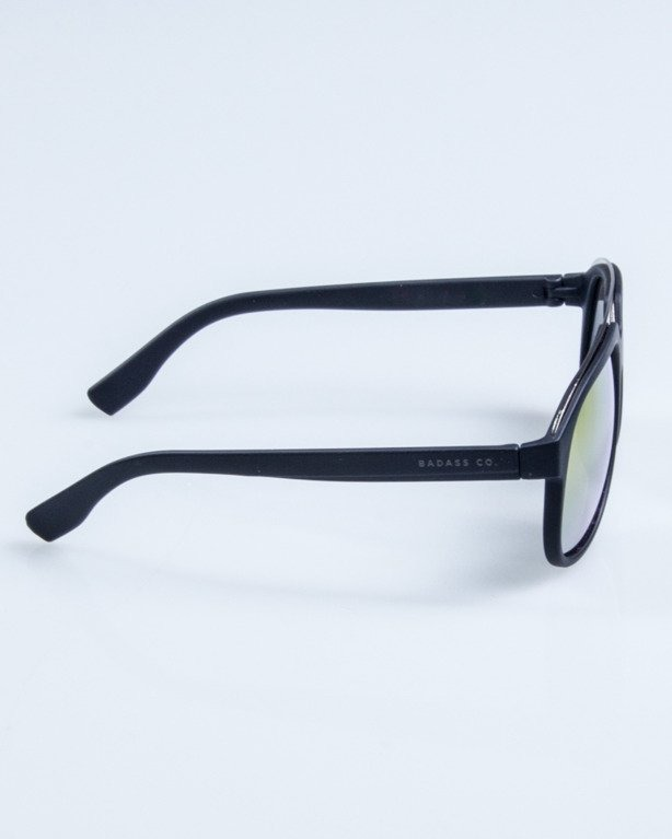 OKULARY ELEGANT BLACK RUBBER PINK MIRROR 668