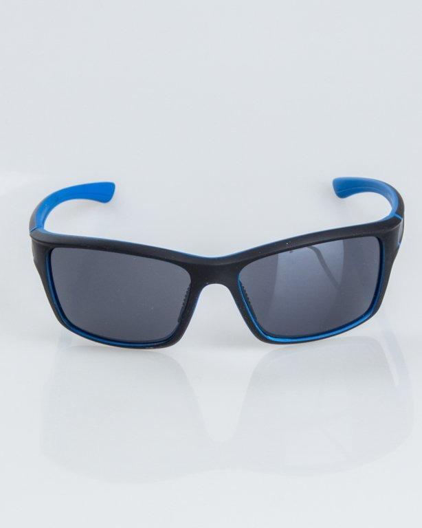 OKULARY EXEMPLAR INSIDE BLACK-BLUE RUBBER BLACK 1239