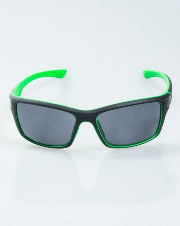 OKULARY EXEMPLAR INSIDE BLACK-GREEN RUBBER BLACK 1016