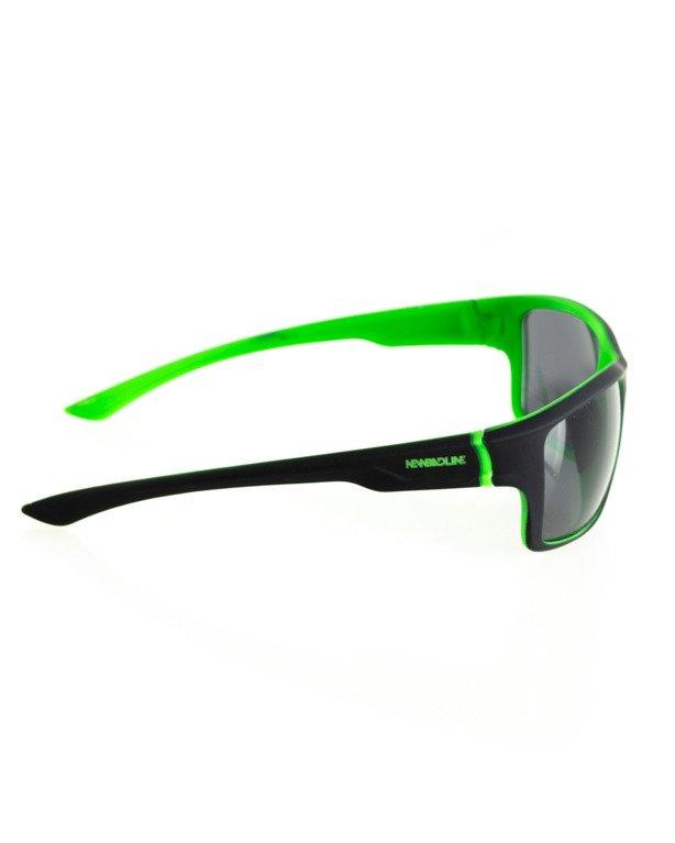 OKULARY EXEMPLAR INSIDE BLACK-GREEN RUBBER BLACK 109