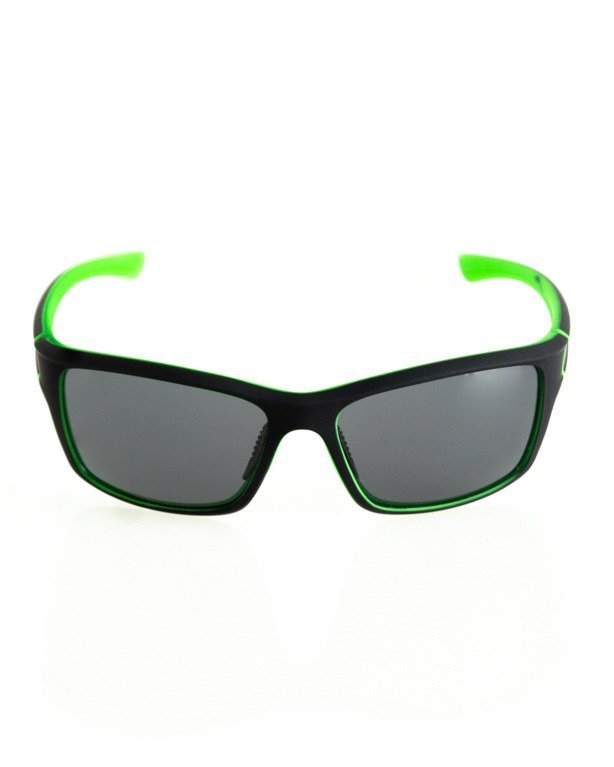 OKULARY EXEMPLAR INSIDE BLACK-GREEN RUBBER BLACK 109