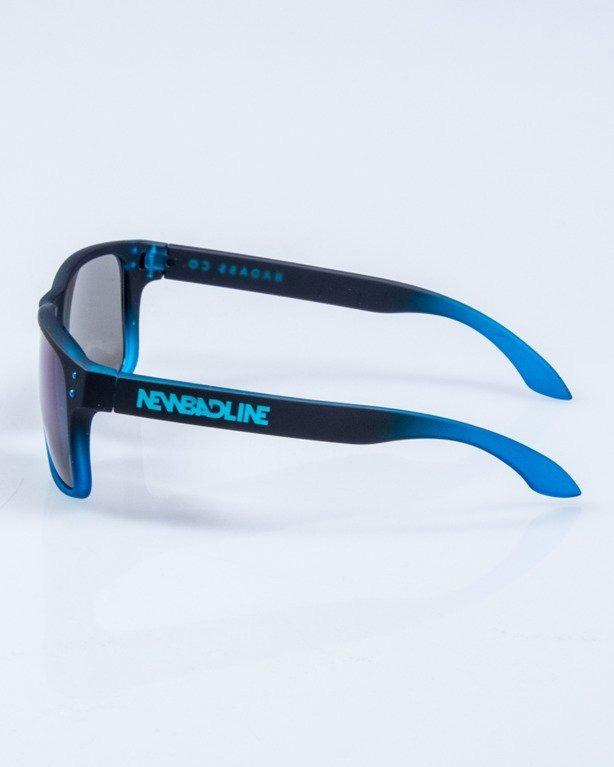 OKULARY FREESTYLE BLACK-BLUE RUBBER BLUE MIRROR 649