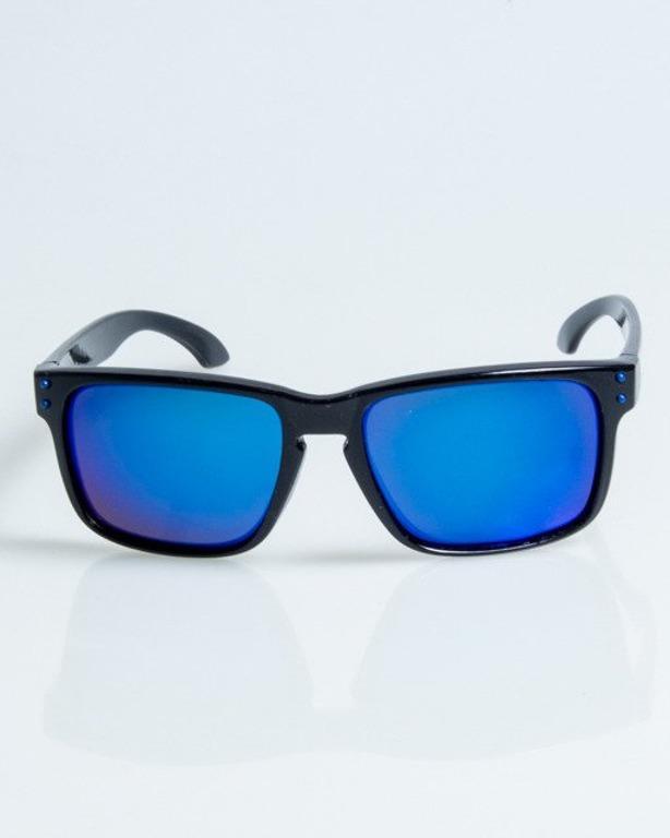 OKULARY FREESTYLE BLACK FLASH BLUE MIRROR POLARIZED 1092