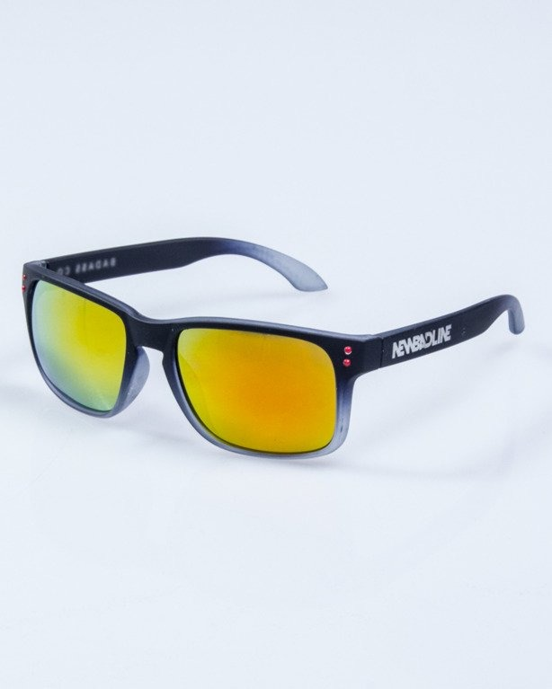 OKULARY FREESTYLE BLACK RUBBER RED MIRROR 650