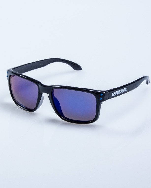 OKULARY FREESTYLE POINT BLACK FLASH BLUE MIRROR 606