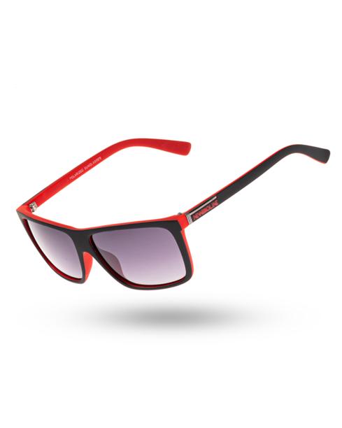 OKULARY INNER POLARIZED BLACK-RED MAT BLACK 00-139