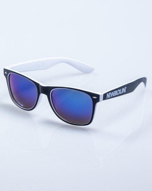 OKULARY INSIDE BLACK-WHITE MAT BLUE MIRROR 566