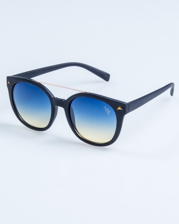OKULARY LADY GET BLACK MAT BLUE-YELLOW 728