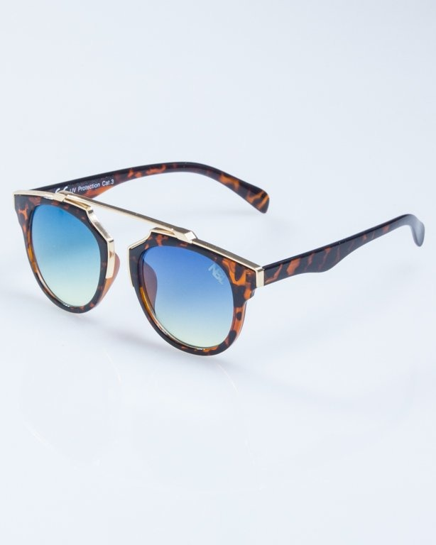 OKULARY LADY ROSH PANTERA GOLD-BROWN BLUE-YELLOW 929
