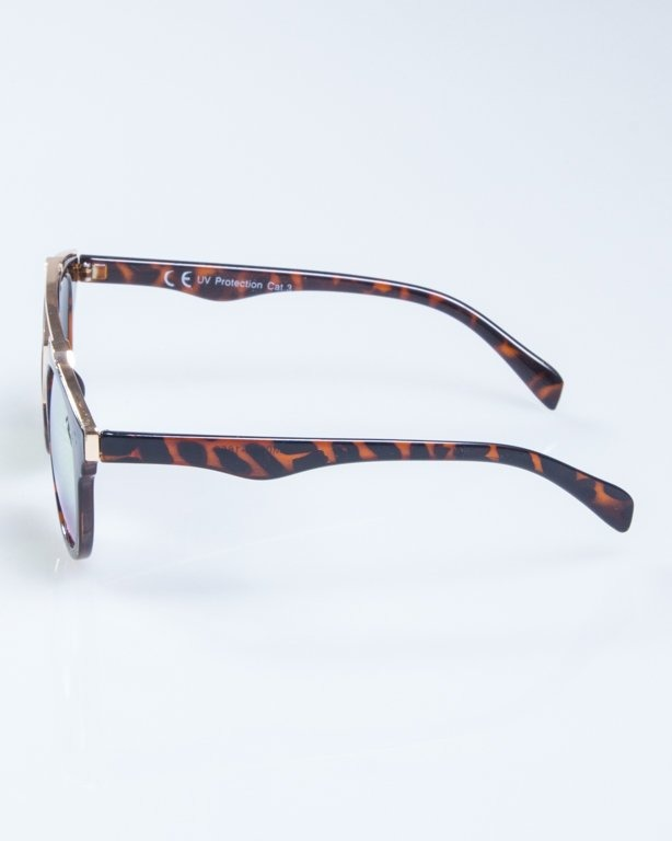OKULARY LADY ROSH PANTERA GOLD-BROWN YELLOW MIRROR 938