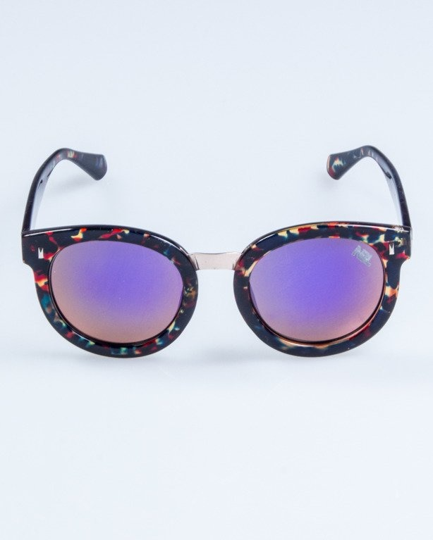 OKULARY LADY XXX FLOWER RED FLASH VIOLET MIRROR 697