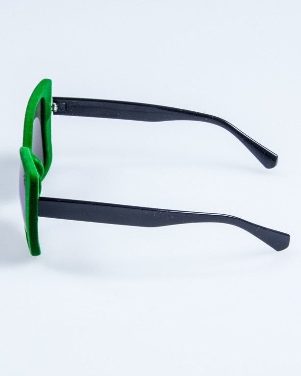OKULARY LADY ZAMSZ BLACK-GREEN GREEN MIRROR 741