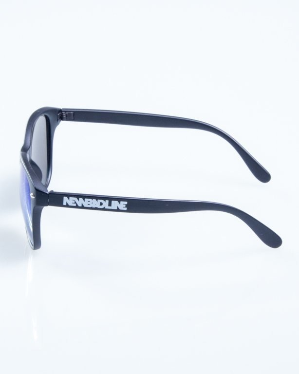 OKULARY LAZY BLACK MAT BLUE MIRROR 775