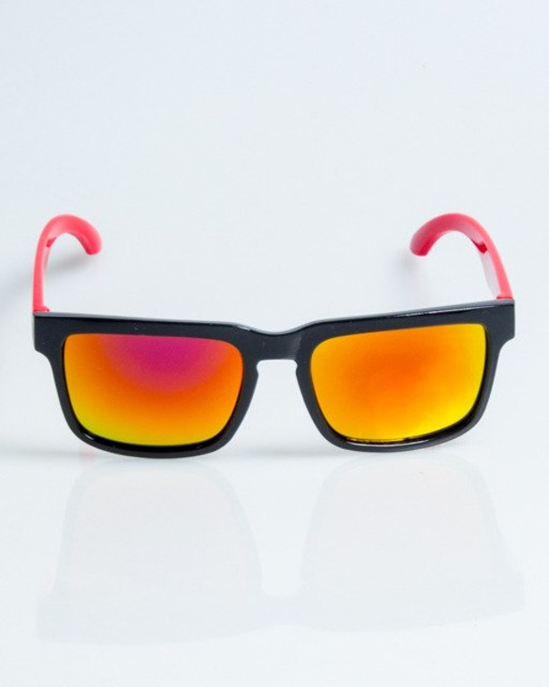 OKULARY MODERN BLACK-RED RED MIRROR POLARIZED 1090