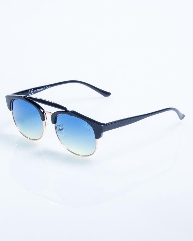 OKULARY NIGHT BLACK BLUE-YELLOW 805
