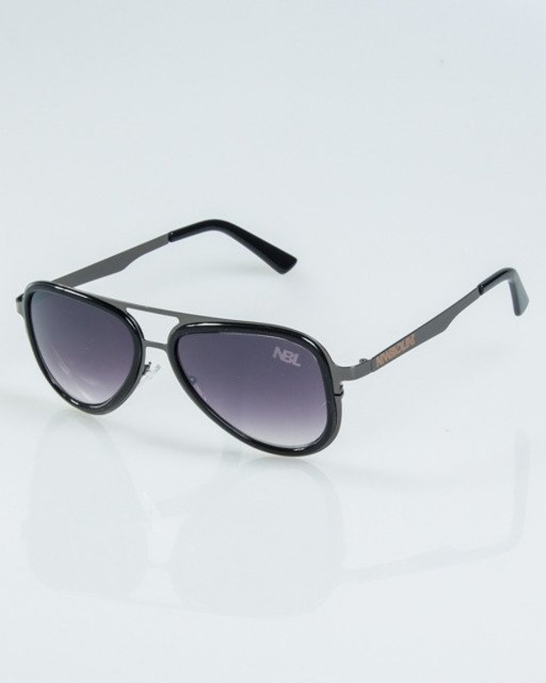 OKULARY RANGER BLACK-BLACK METAL FLASH HALF BLACK 1150