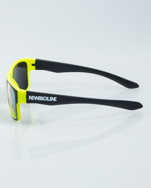 OKULARY SPEED BLACK-NEON MAT YELLOW MIRROR 1010