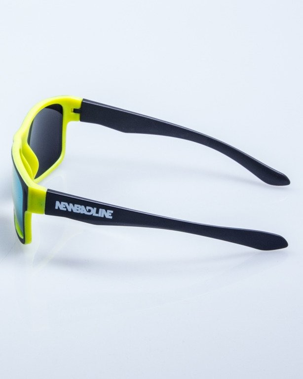 OKULARY SPEED BLACK-NEON MAT YELLOW MIRROR 572