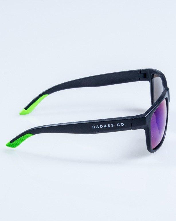 OKULARY SPORT BLACK-GREEN MAT GREEN MIRROR 768