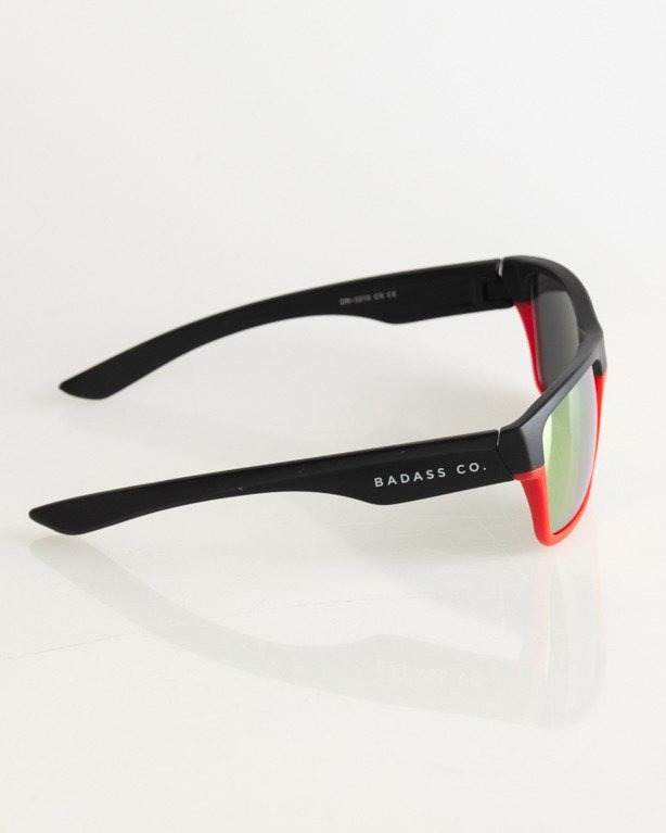 OKULARY TWO TONE BLACK-RED MAT RED MIRROR 022