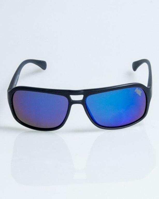 OLULARY SWANK BLACK MAT BLUE MIRROR POLARIZED 1076