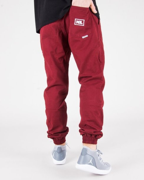 SPODNIE CHINO JOGGER ICON BRICK