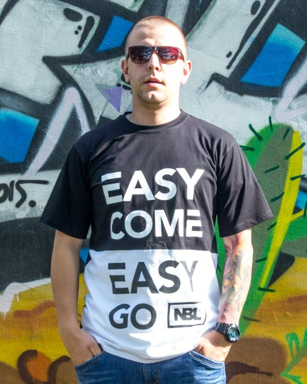 T-SHIRT EASY COME BLACK-WHITE